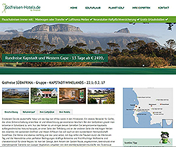 Screenshot Website www.golfreisen-hotels.de