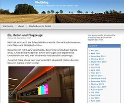 Screenshot Website weltblog.wordpress.com